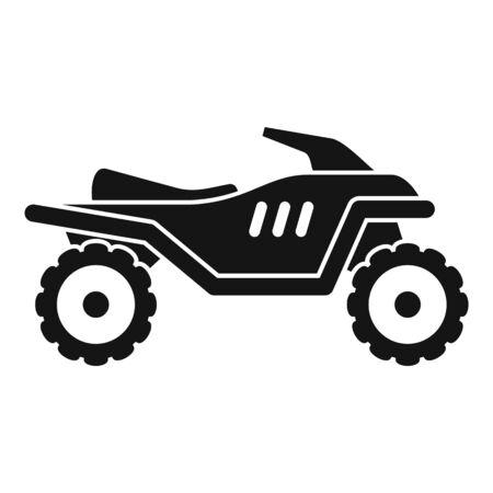 Motocross quad bike icon, simple style