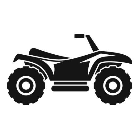 Terrain quad bike icon, simple style  イラスト・ベクター素材