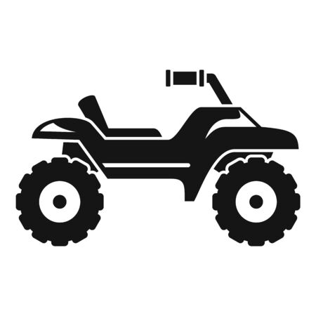 Dirt tire quad bike icon, simple style