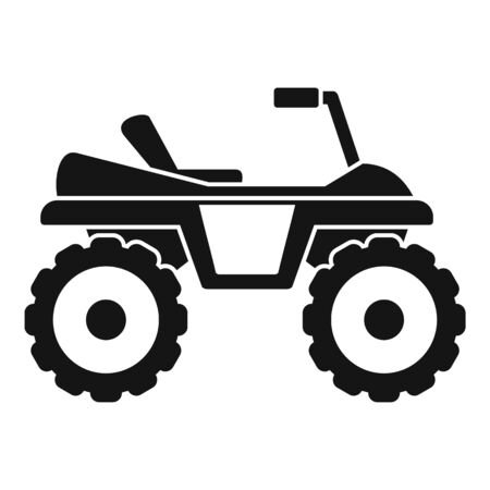 Dirtbike icon, simple style Illustration