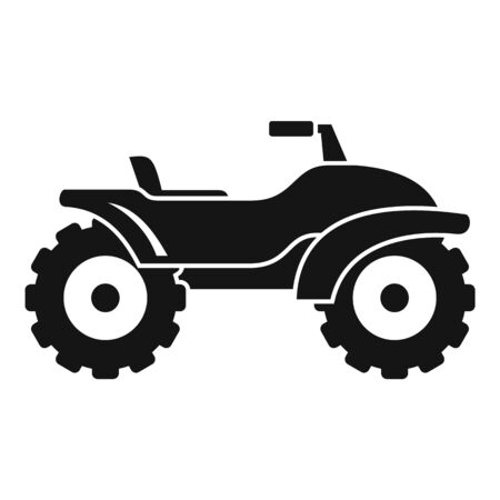 Adventure quad bike icon, simple style