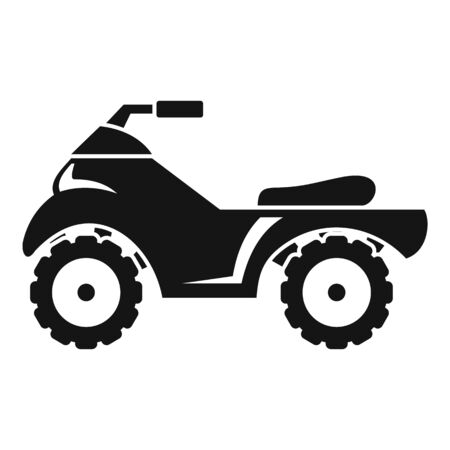 Quad bike icon, simple style Illustration