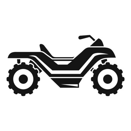 Long quad bike icon, simple style  イラスト・ベクター素材
