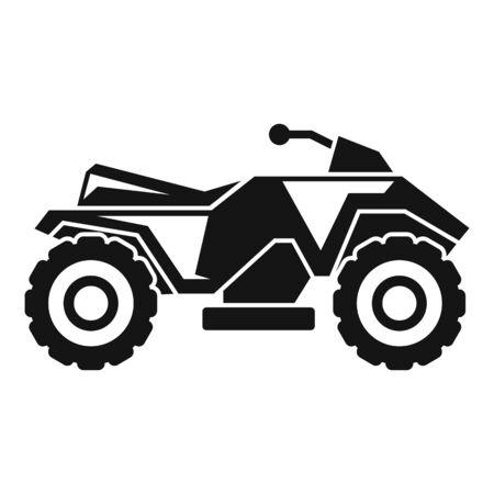 Extreme quad bike icon, simple style
