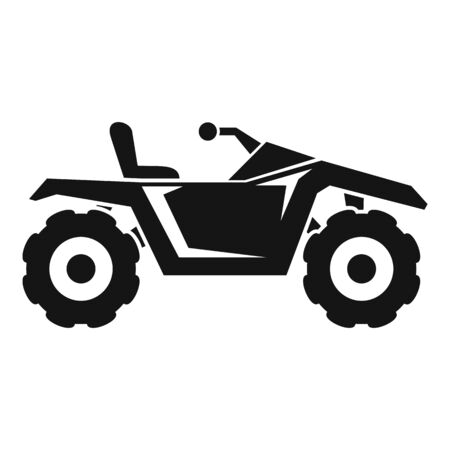 Dirt quad bike icon, simple style