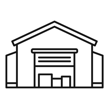 Warehouse building icon, outline style