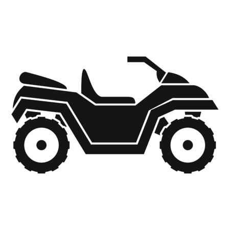 Atv quad bike icon, simple style Illustration