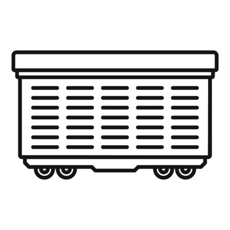 Cargo train wagon icon, outline style