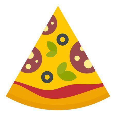 Pizza slice icon, flat style