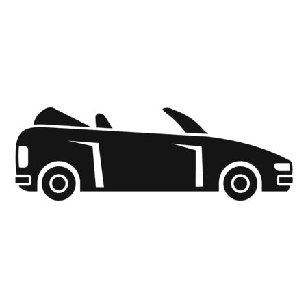 Modern cabriolet icon, simple style Banque d'images - 129368956