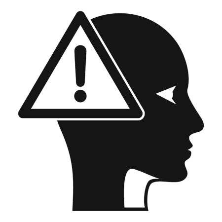 Alzheimers disease icon, simple style Иллюстрация