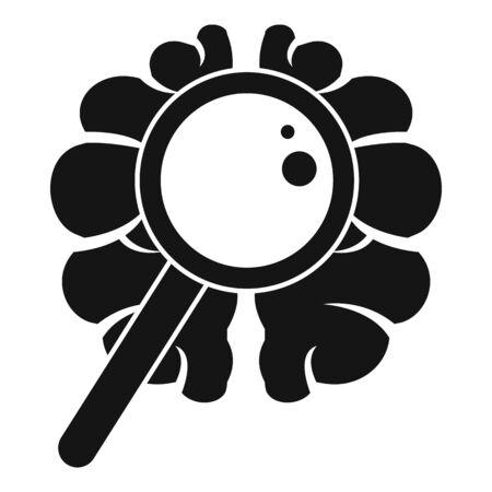 Brain dementia icon, simple style Illusztráció