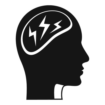 Forget memory disease icon, simple style Иллюстрация