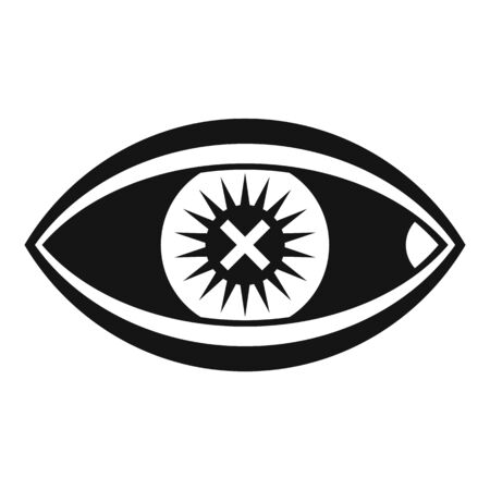 Confuse human eye icon, simple style