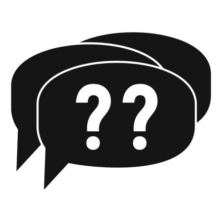 Confuse alzheimer question icon, simple style Illustration