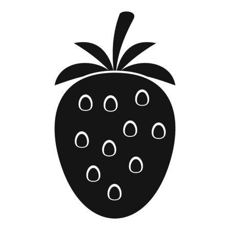 Strawberry icon, simple style Ilustracja