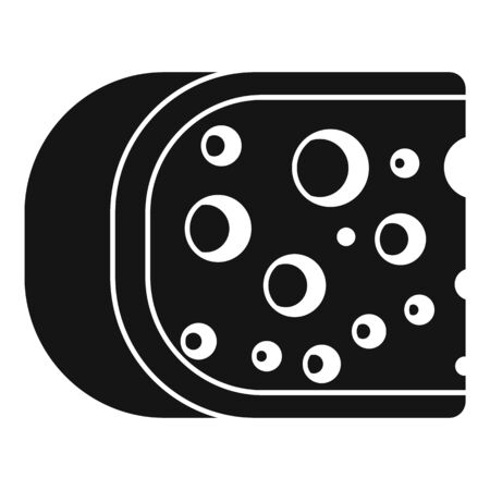 Cheese icon, simple style