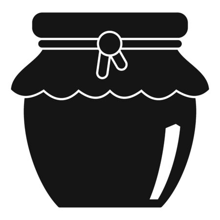Honey jar icon, simple style Stock Illustratie