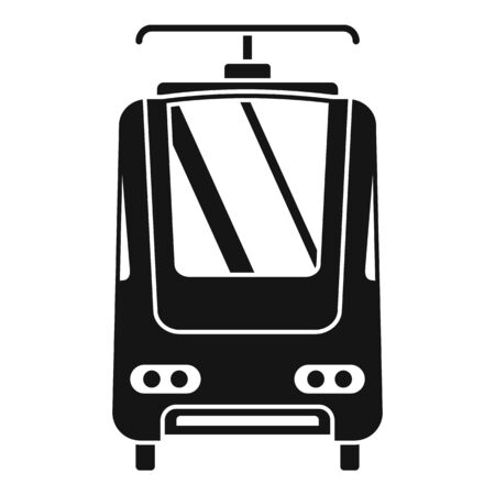 Electric train icon, simple style