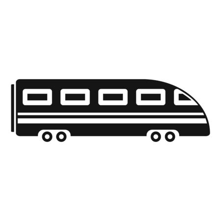 Speed train icon, simple style