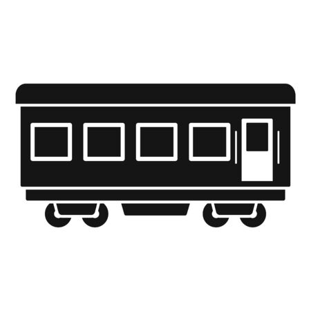 Passenger wagon icon, simple style Foto de archivo - 129372897