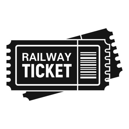 Railway ticket icon, simple style Stock Illustratie