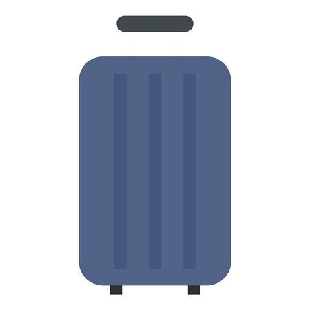 Travel bag icon, flat style