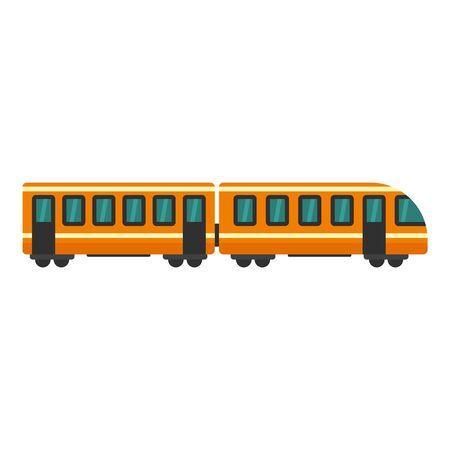 Modern train icon, flat style Foto de archivo - 129372994