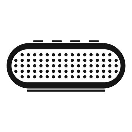 Radio smart speaker icon, simple style