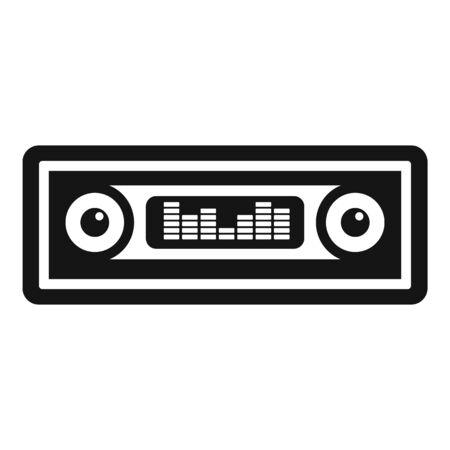 Car audio icon, simple style Векторная Иллюстрация