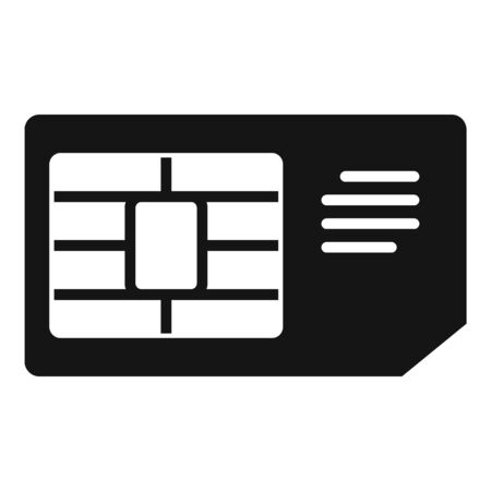 Business sim card icon, simple style
