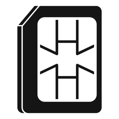 Lte sim card icon, simple style