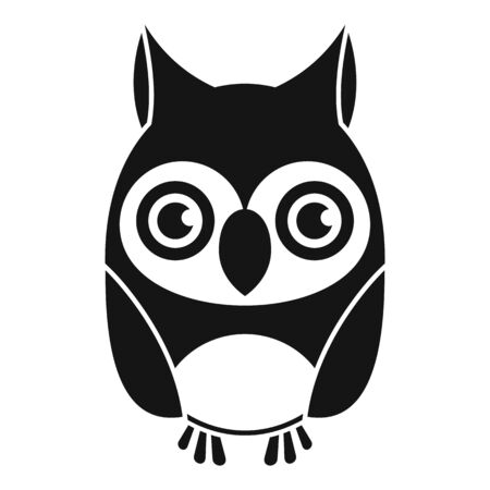 Owl bird icon, simple style