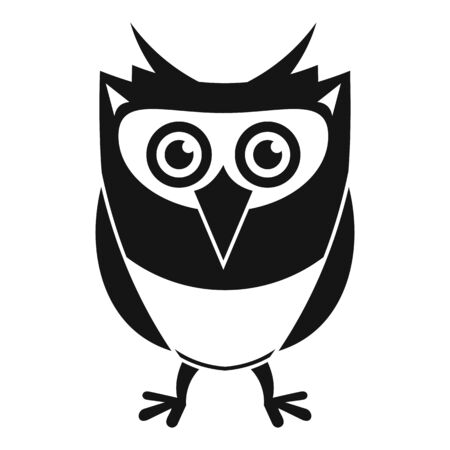 Owl character icon, simple style