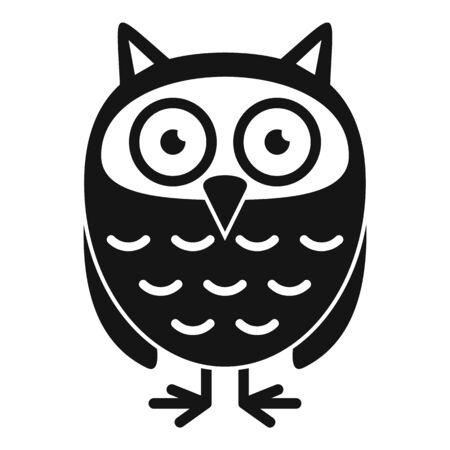 Owl kid icon, simple style Ilustrace