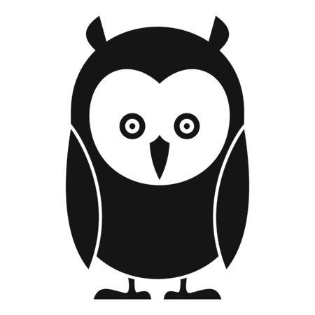 Kid owl icon, simple style