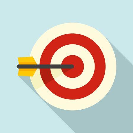 Sms marketing target icon, flat style Ilustracja