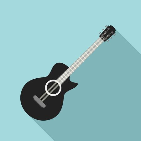 Guitar icon, flat style