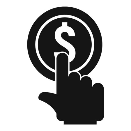 Click gold coin icon, simple style