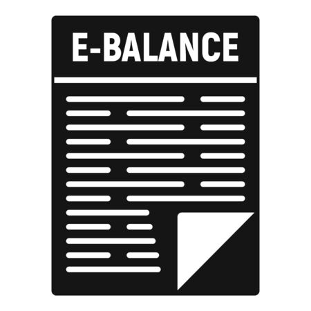 Internet money balance icon, simple style