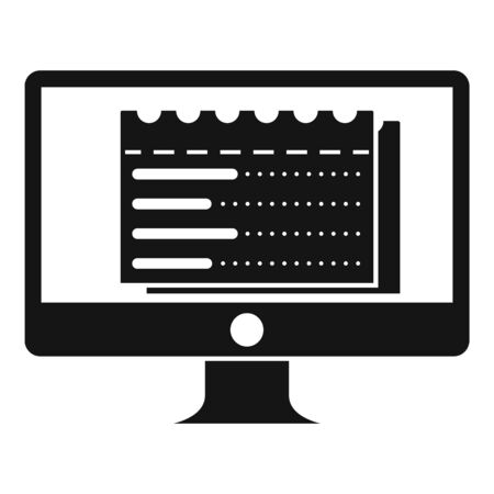 Web money receipt icon, simple style