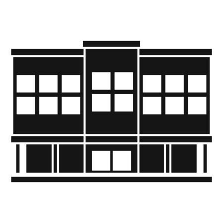 Shopping mall icon, simple style