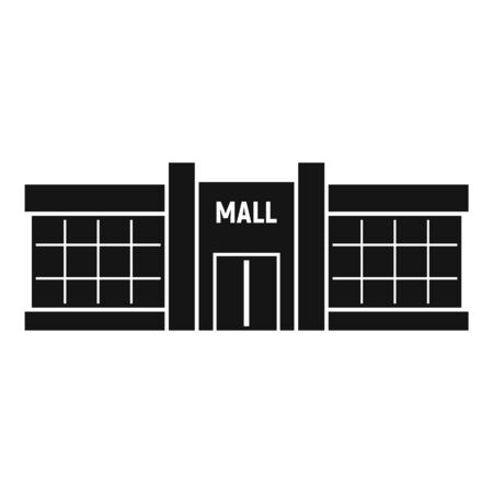 Retail mall icon, simple style 일러스트