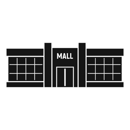 Retail mall icon, simple style Illusztráció