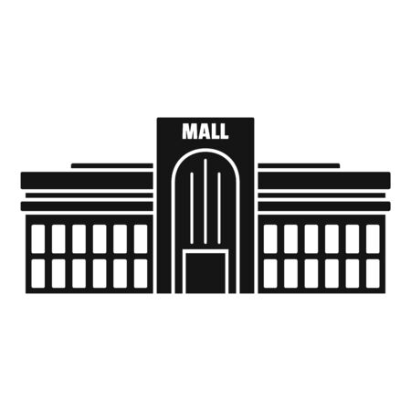 Business mall icon, simple style 스톡 콘텐츠 - 129376928