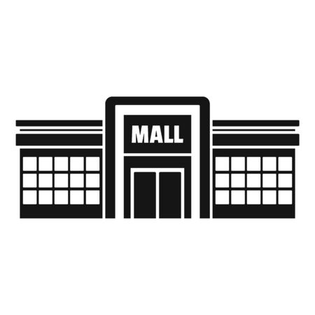 Supermarket mall icon, simple style 스톡 콘텐츠 - 129376925