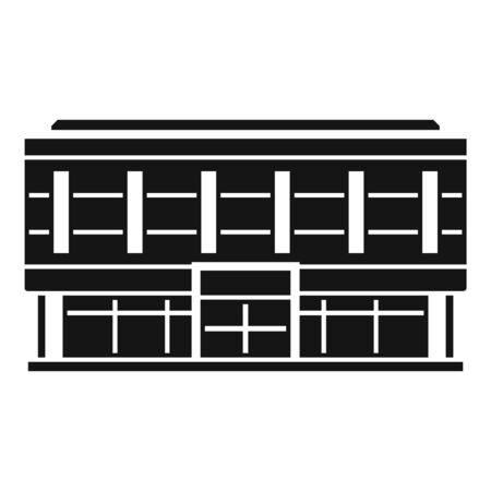 Office business mall icon, simple style Illusztráció