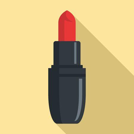 Woman lipstick icon, flat style