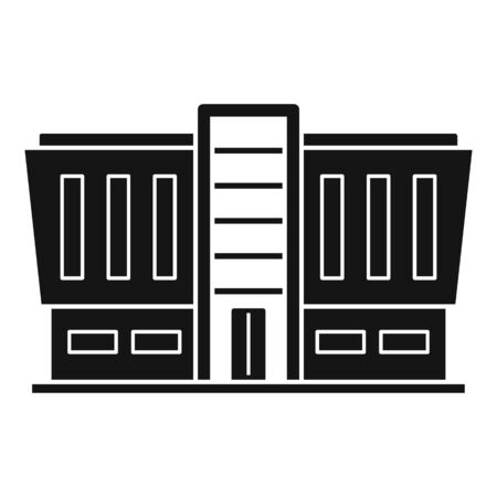 Mall building icon, simple style