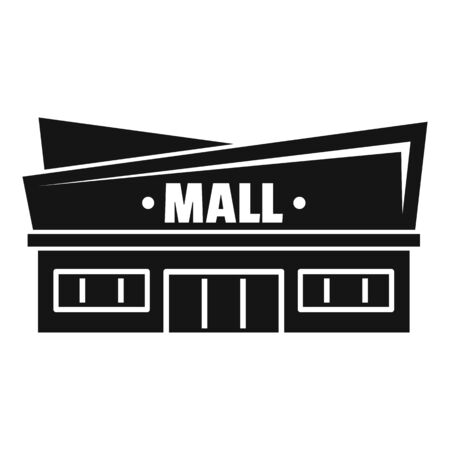 Facade mall icon, simple style 스톡 콘텐츠 - 129377094